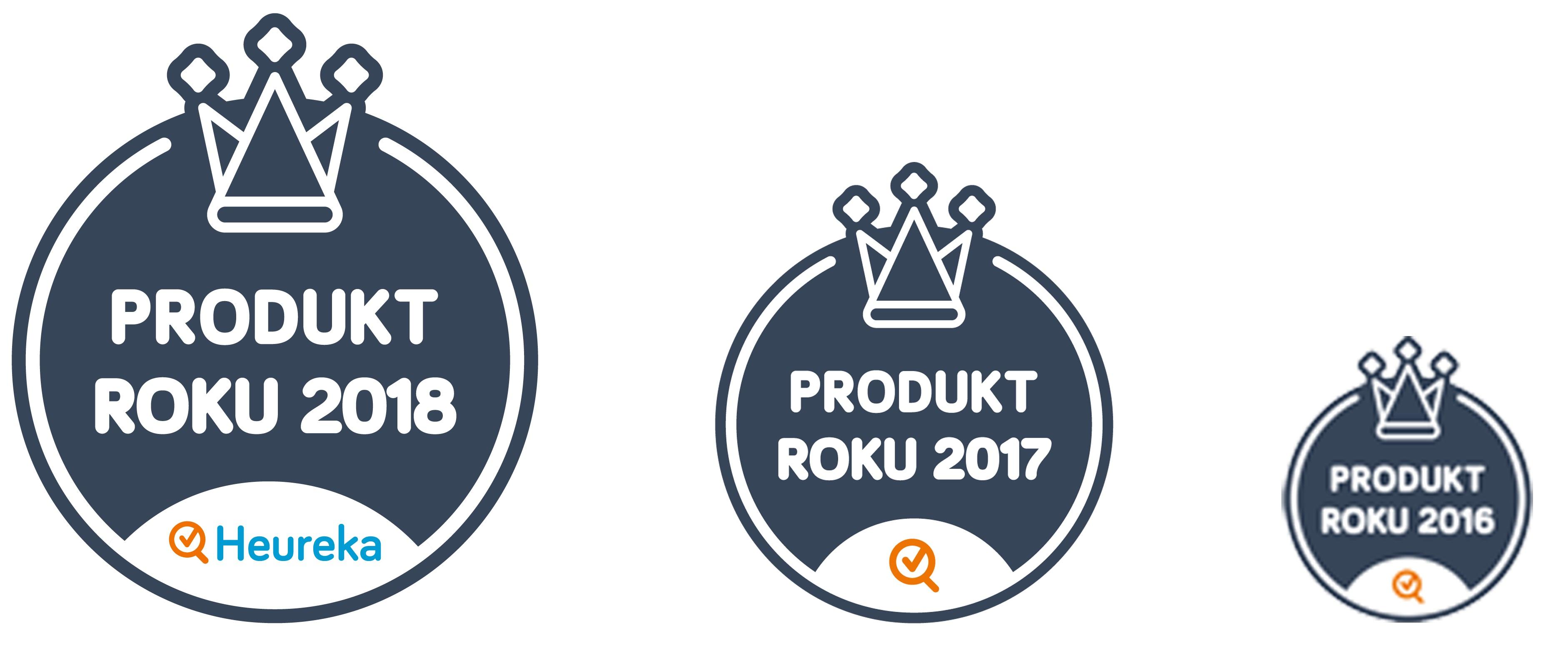Produkt roku v ČR v letech 2018, 2017,2016