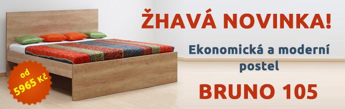 Žhavá novinka! Ekonomická a moderní postel Bruno 105