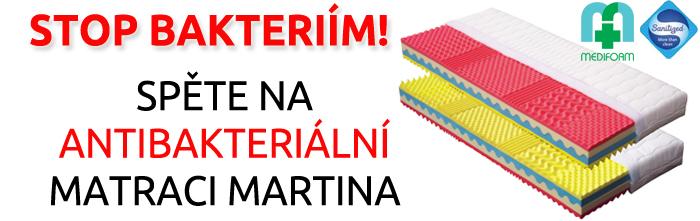 Antibakteriální matrace Martina