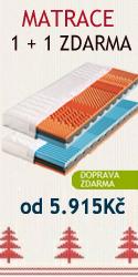Partnerské matrace 1 1 zdarma od 5915Kč. Matrace máme skladem.