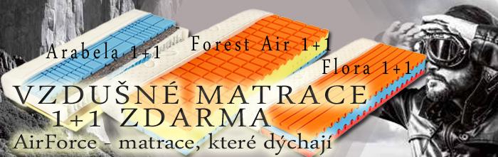 Vzdušné matrace v akci 1+1 zdarma